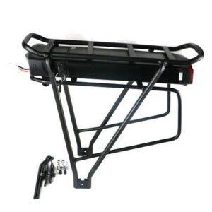ΕΤΟΙΜΟΠΑΡΑΔΟΤΗ ΜΠΑΤΑΡΙΑ ΙΟΝΤΩΝ ΛΙΘΙΟΥ 48v 20ah (black   color)  rear rack black electric bike