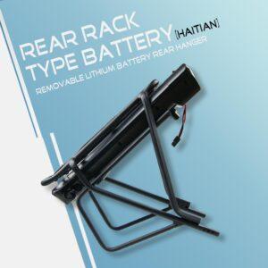 ΕΤΟΙΜΟΠΑΡΑΔΟΤΗ ΜΠΑΤΑΡΙΑ ΙΟΝΤΩΝ ΛΙΘΙΟΥ 48v 14ah (black   color)  rear rack black  electric battery