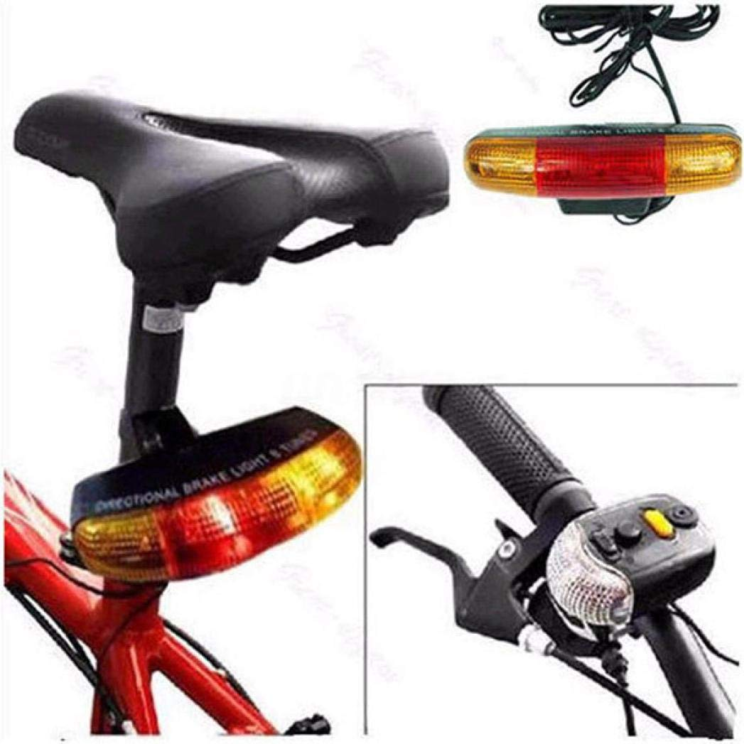 7 LED Bicycle Bike Turn Signal Directional Brake Light Lamp 8 sound Horn