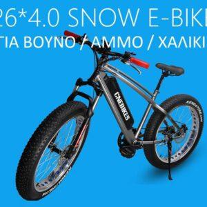 """Ηλεκτρικό ποδήλατο 26"""" FAT TIRE FR26B"""