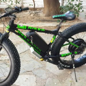 """ΕΤΟΙΜΟΠΑΡΑΔΟΤΟ 26"""" Fat tire  MEGAMO  Ηλεκτρικό Ποδήλατο  48V/1000 w για Βουνο, Χιονι, Παραλία, Αμμο"""